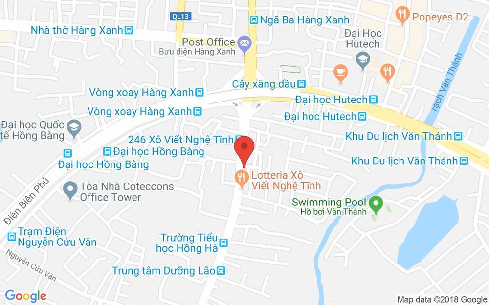 Vị trí bản đồ 246E Xô Viết Nghệ Tĩnh, P. 21 Quận Bình Thạnh TP. HCM