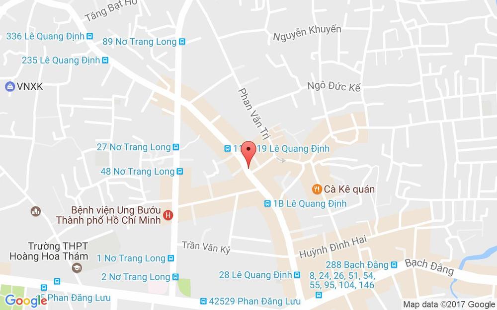 Vị trí bản đồ 150 Lê Quang Định, P. 14 Quận Bình Thạnh TP. HCM