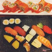 Sushi combination + cali rolls