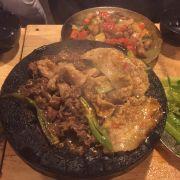 Heo + bò nướng