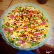 Bánh tráng nướng- Trứng bò xúc xích