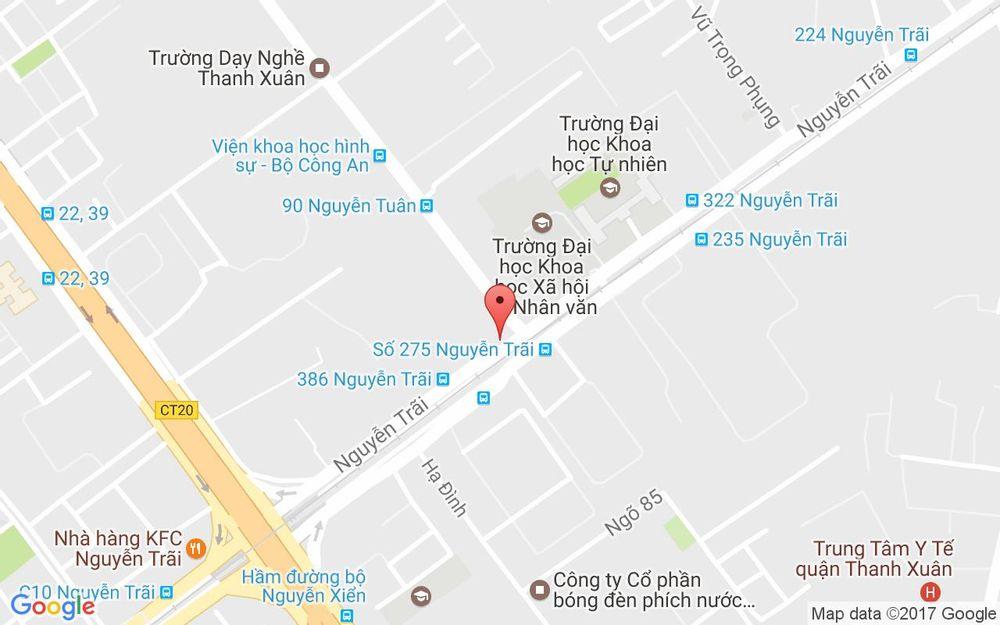 Vị trí bản đồ 368 Nguyễn Trãi Quận Thanh Xuân Hà Nội