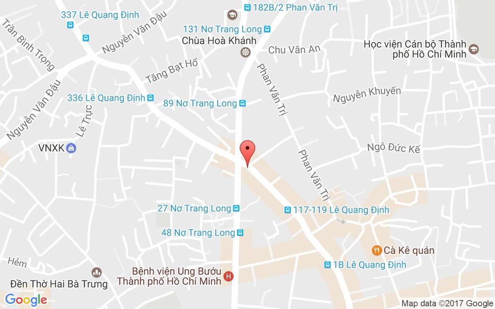 Vị trí bản đồ 165 Lê Quang Định Quận Bình Thạnh TP. HCM