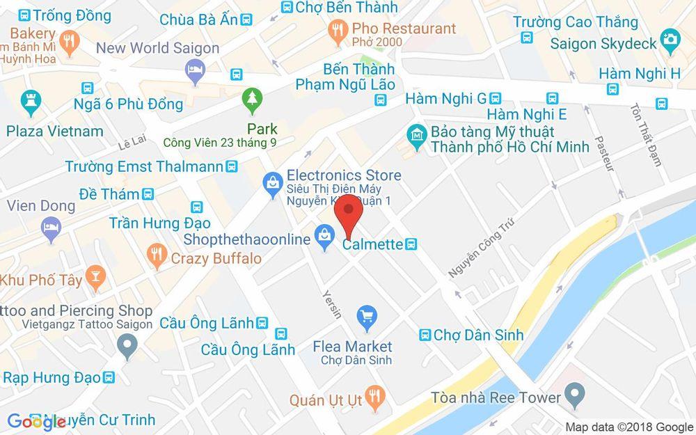 Vị trí bản đồ 140 Ký Con, P. Nguyễn Thái Bình Quận 1 TP. HCM