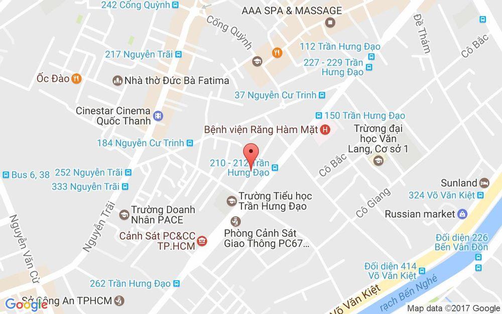 Vị trí bản đồ 40 A-C Cao Bá Nhạ Quận 1 TP. HCM