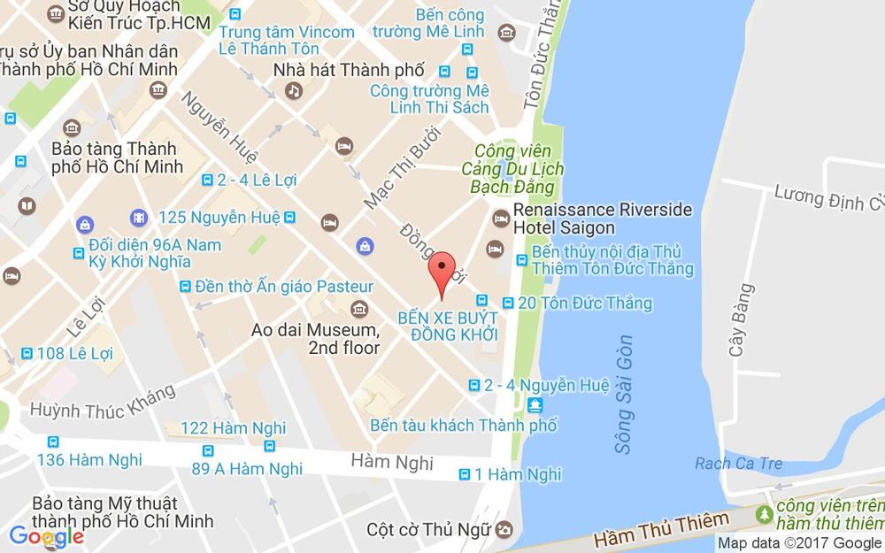 Vị trí bản đồ 35-37 Ngô Đức Kế Quận 1 TP. HCM