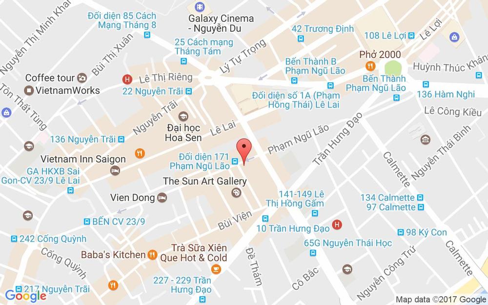 Vị trí bản đồ 167 Phạm Ngũ Lão Quận 1 TP. HCM