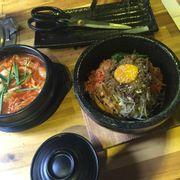 cơm trộn, canh kim chi