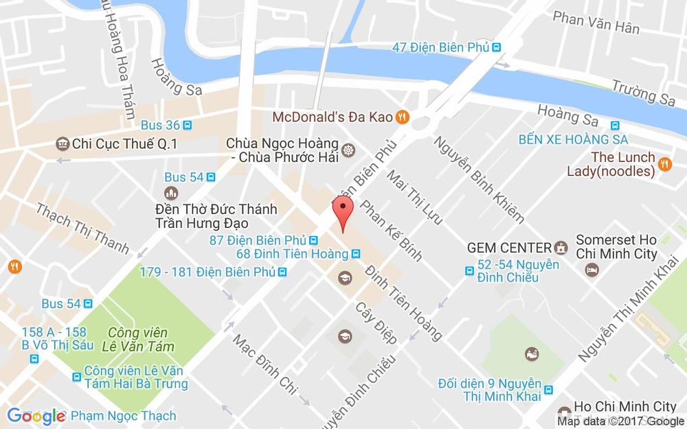 Vị trí bản đồ 86 Đinh Tiên Hoàng Quận 1 TP. HCM