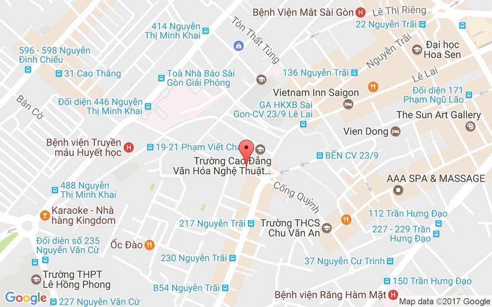 Vị trí bản đồ 244A Cống Quỳnh Quận 1 TP. HCM