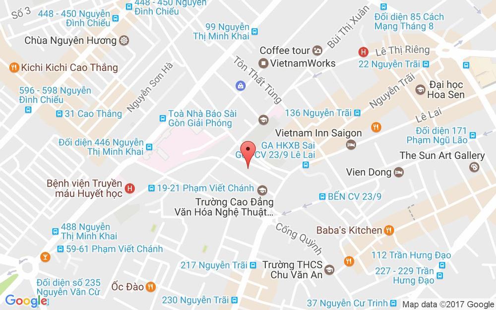 Vị trí bản đồ 244A Cống Quỳnh, P. Phạm Ngũ Lão Quận 1 TP. HCM