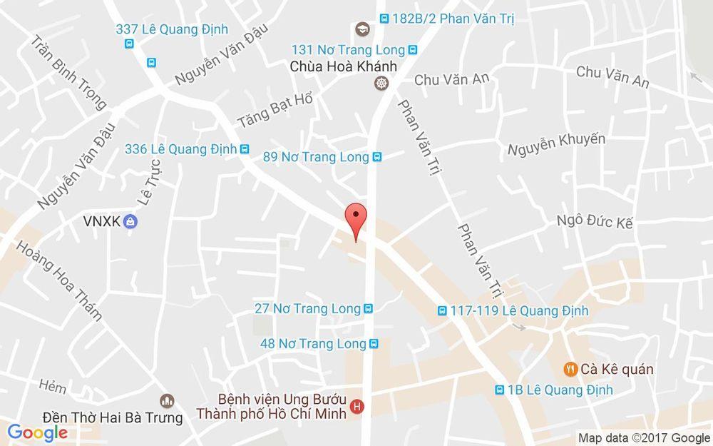 Vị trí bản đồ 177 Lê Quang Định, P. 7 Quận Bình Thạnh TP. HCM