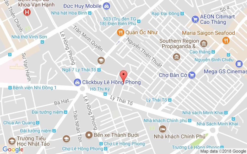 Vị trí bản đồ 214 Cư xá đường sắt, Lý Thái Tổ, P. 1 Quận 3 TP. HCM