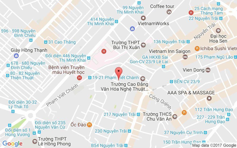 Vị trí bản đồ 256 Cống Quỳnh Quận 1 TP. HCM