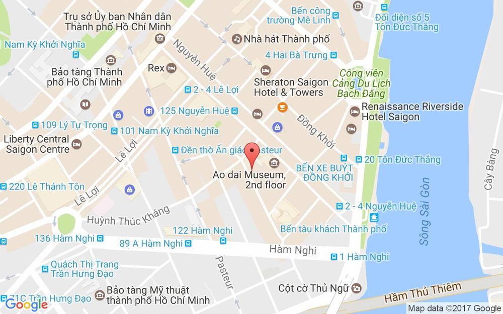 Vị trí bản đồ 118 Hồ Tùng Mậu Quận 1 TP. HCM