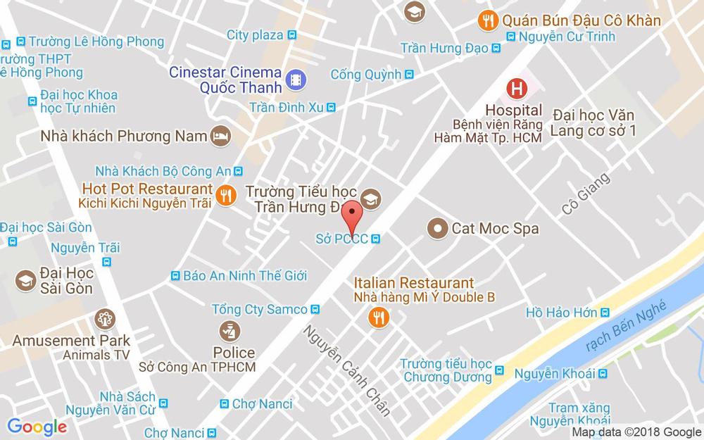 Vị trí bản đồ 254 Bis Trần Hưng Đạo, P. Nguyễn Cư Trinh Quận 1 TP. HCM