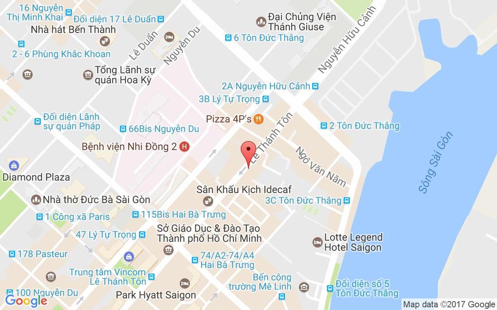 Vị trí bản đồ 15a/57c Lê Thánh Tôn Quận 1 TP. HCM