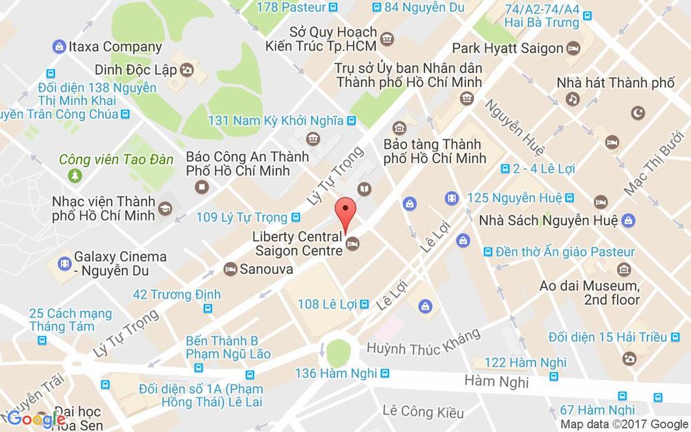 Vị trí bản đồ 108 Lê Thánh Tôn Quận 1 TP. HCM