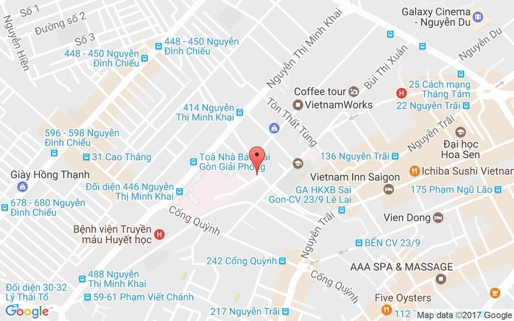 Vị trí bản đồ 28 Lương Hữu Khánh Quận 1 TP. HCM