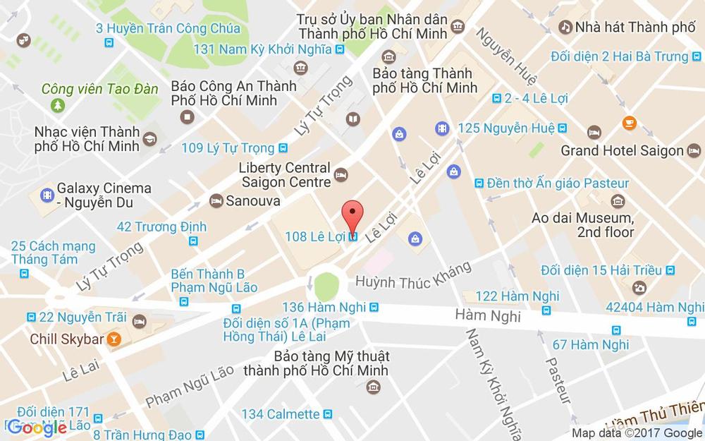 Vị trí bản đồ 114 Lê Lợi Quận 1 TP. HCM