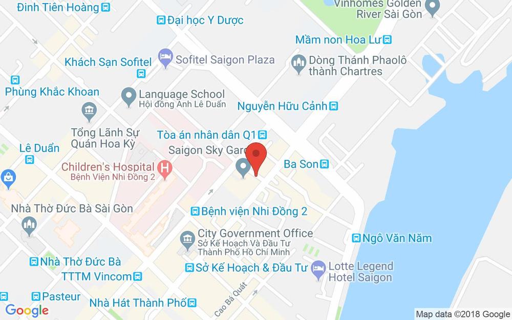 Vị trí bản đồ 13/1 Lê Thánh Tôn Quận 1 TP. HCM