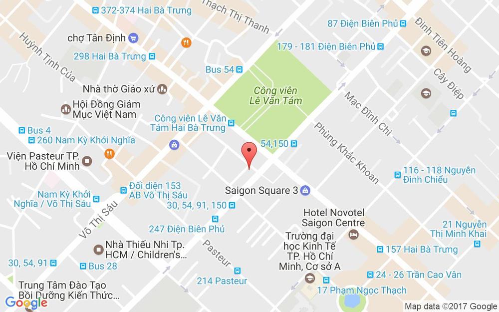 Vị trí bản đồ 58/10 Phạm Ngọc Thạch Quận 3 TP. HCM