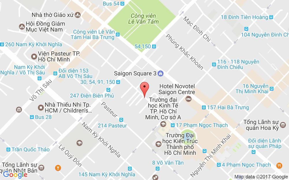 Vị trí bản đồ 39B Phạm Ngọc Thạch Quận 3 TP. HCM