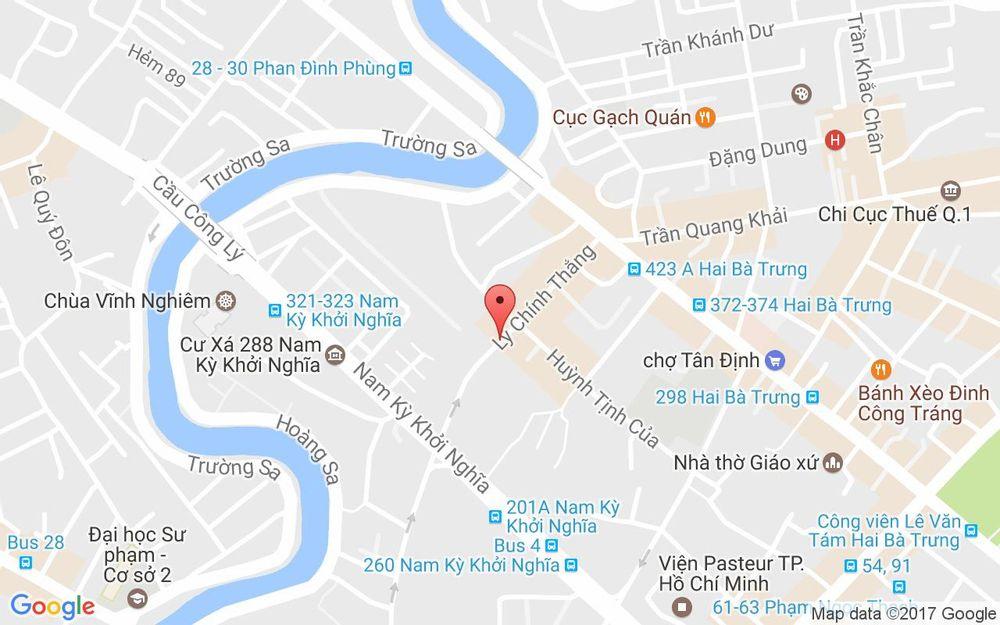 Vị trí bản đồ 78 - 80 Lý Chính Thắng Quận 3 TP. HCM