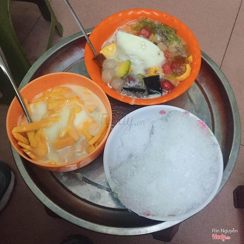 Hoa quả dầm sữa chua thạch lựu trân châu + sữa chua mít thạch lựu trân châu