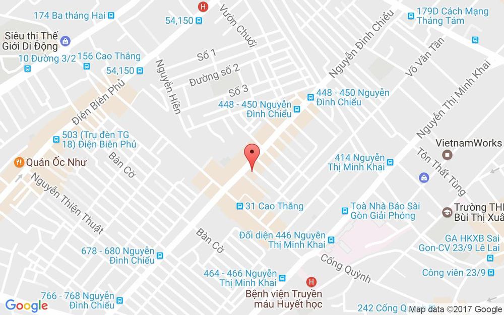 Vị trí bản đồ 441/34 Nguyễn Đình Chiểu Quận 3 TP. HCM