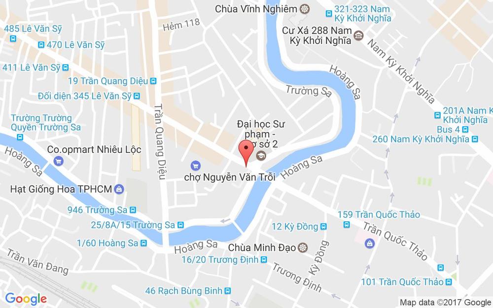 Vị trí bản đồ 205 Lê Văn Sỹ Quận 3 TP. HCM