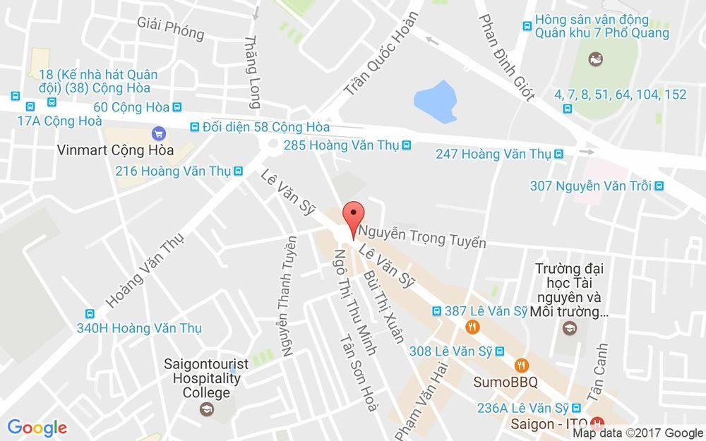 Vị trí bản đồ 400 Lê Văn Sỹ Quận Tân Bình TP. HCM