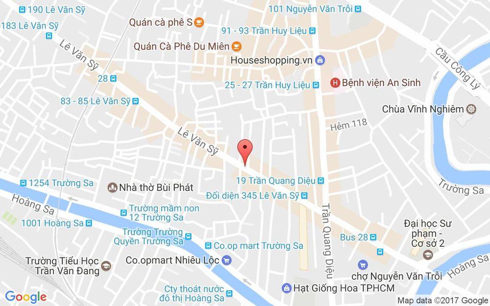 Vị trí bản đồ 450B Lê Văn Sỹ Quận 3 TP. HCM