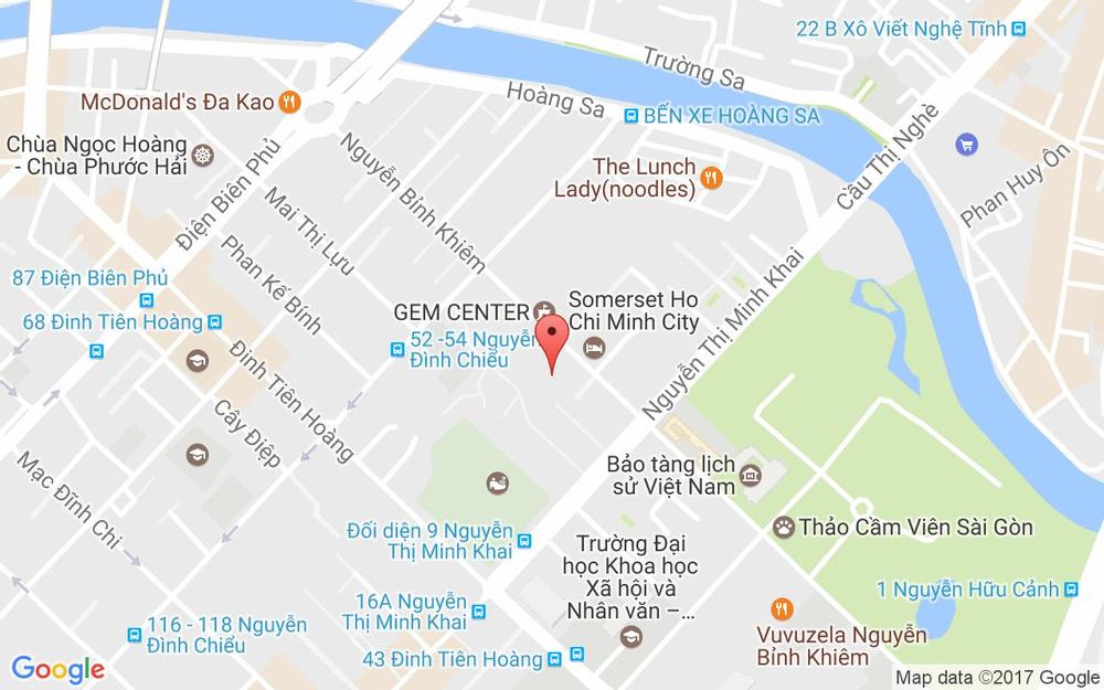 Vị trí bản đồ 10/5 Nguyễn Thị Minh Khai, P. Đa Kao Quận 1 TP. HCM