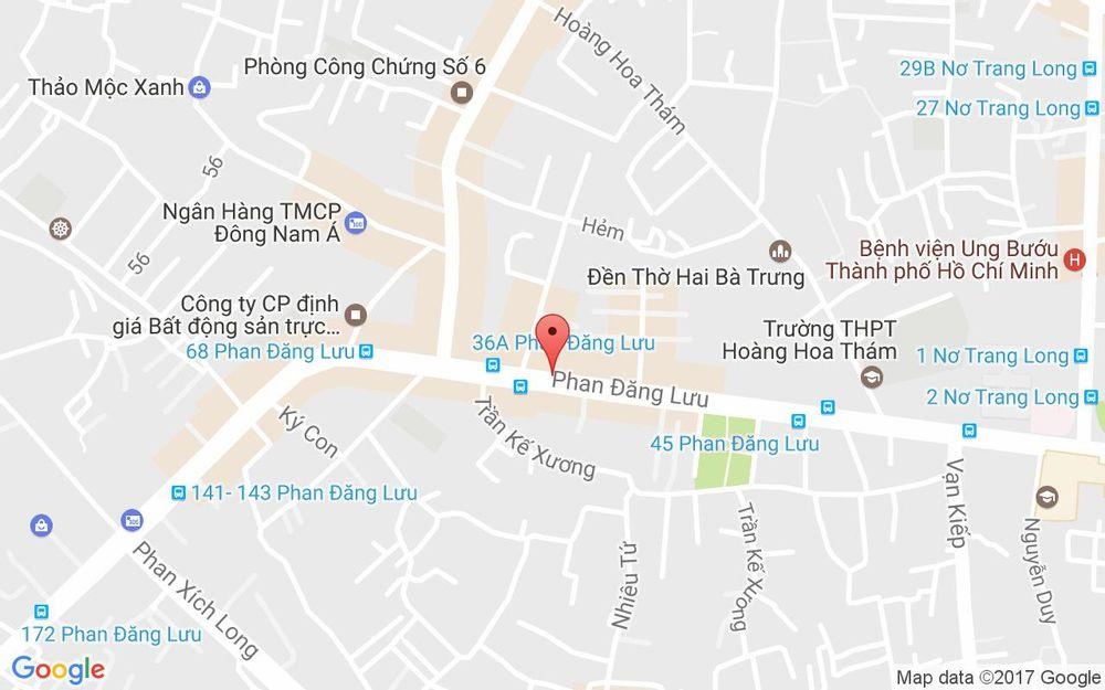 Vị trí bản đồ 34 Phan Đăng Lưu, P. 6 Quận Bình Thạnh TP. HCM