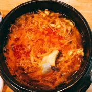Canh bò kim chi