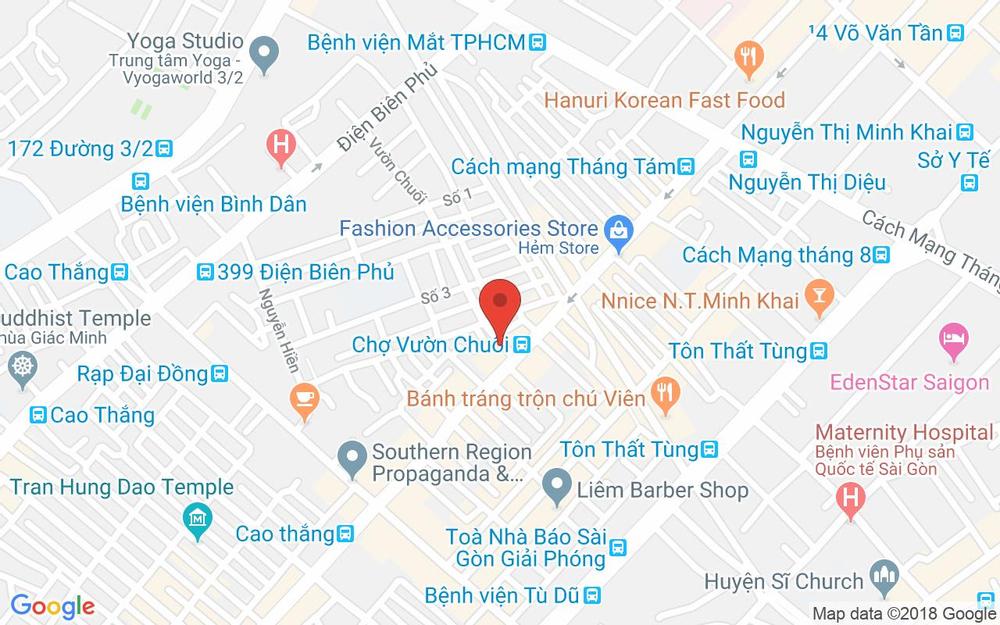 Vị trí bản đồ 5 Vườn Chuối, P. 4 Quận 3 TP. HCM