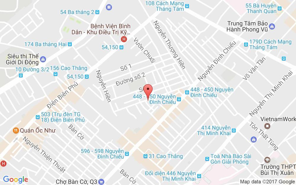 Vị trí bản đồ 39 Đường số 4, Cư Xá Đô Thành Quận 3 TP. HCM