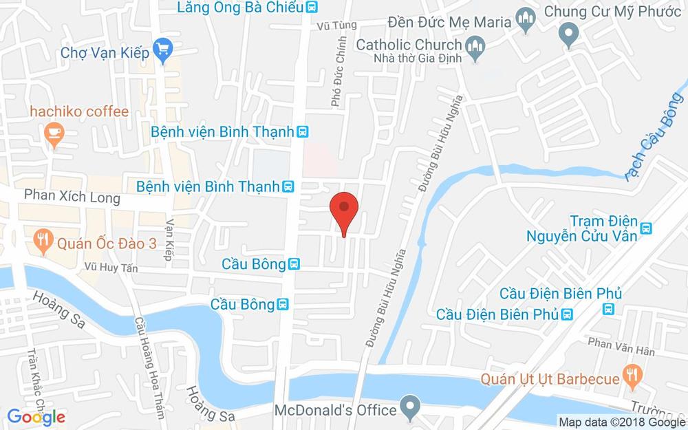 Vị trí bản đồ 64 Đinh Tiên Hoàng Quận Bình Thạnh TP. HCM