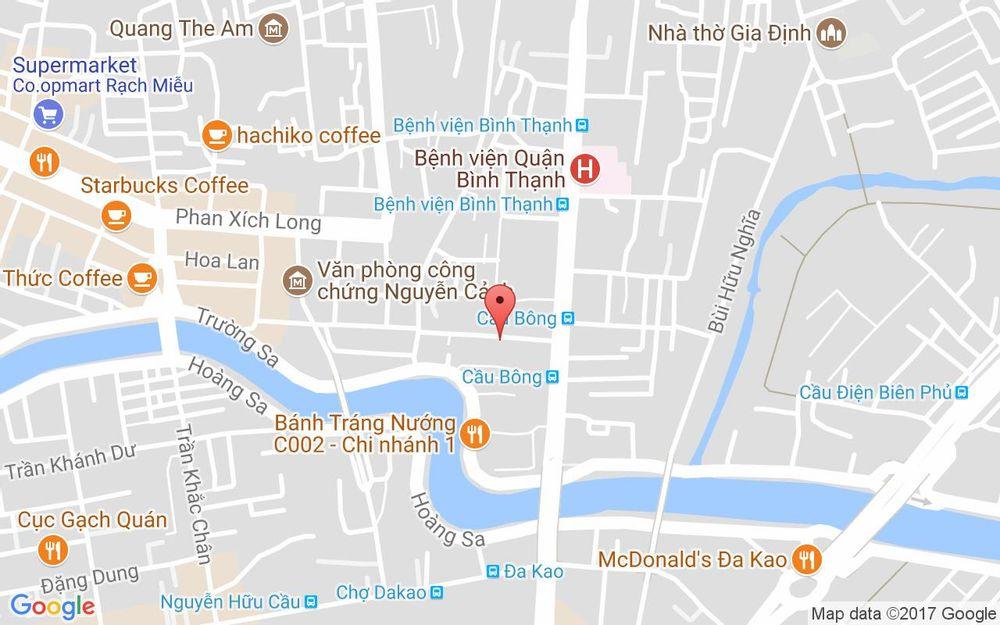Vị trí bản đồ 117 Vũ Huy Tấn Quận Bình Thạnh TP. HCM