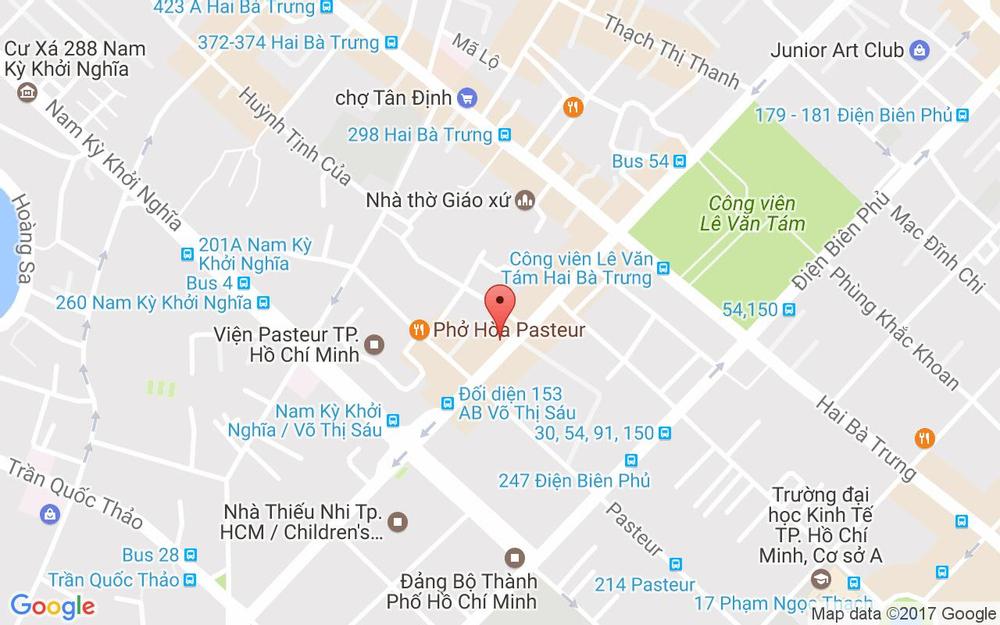 Vị trí bản đồ 113-115 Võ Thị Sáu, P. 3 Quận 3 TP. HCM