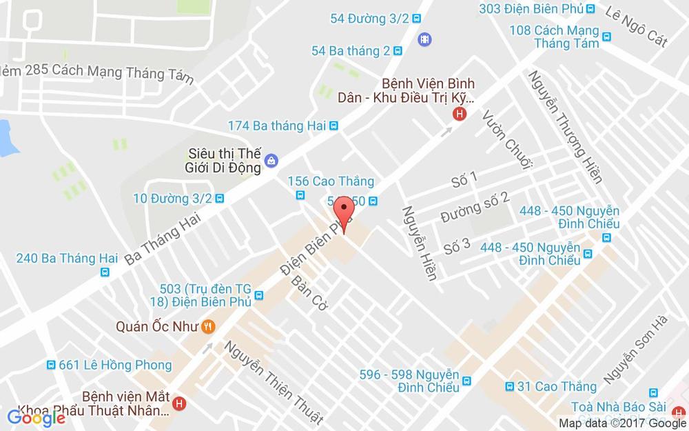 Vị trí bản đồ 89 Cao Thắng Quận 3 TP. HCM