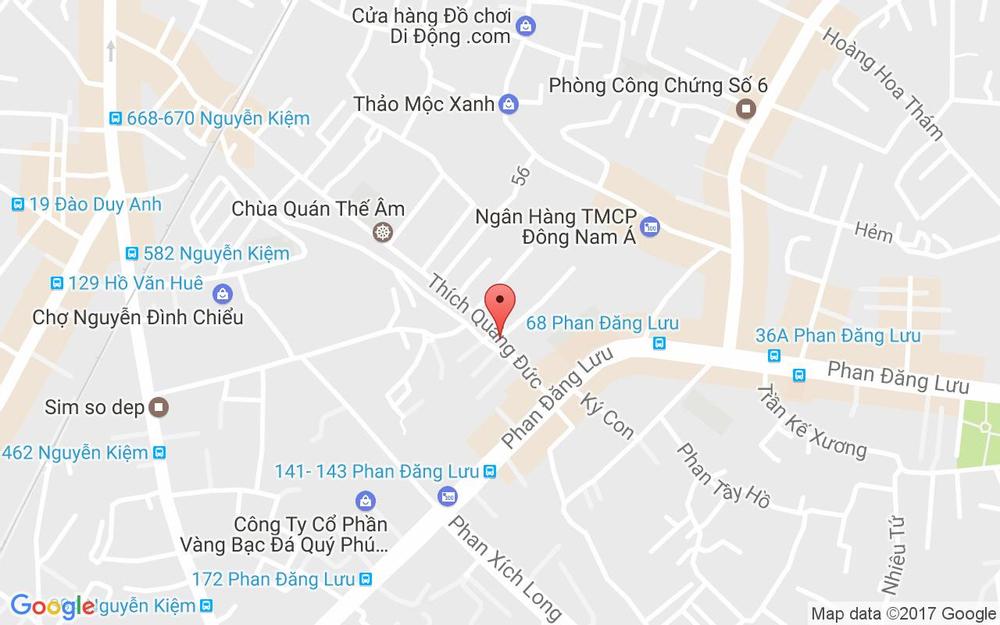 Vị trí bản đồ Ty Ty Chuyên Nghiệp Tóc - Thích Quảng Đức ở TP. HCM