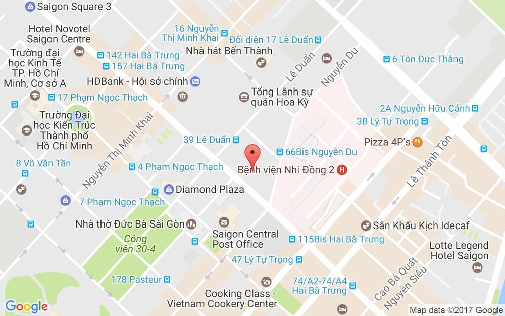 Vị trí bản đồ Góc Đường Hai Bà Trưng & Lê Duẩn, P. Bến Nghé Quận 1 TP. HCM