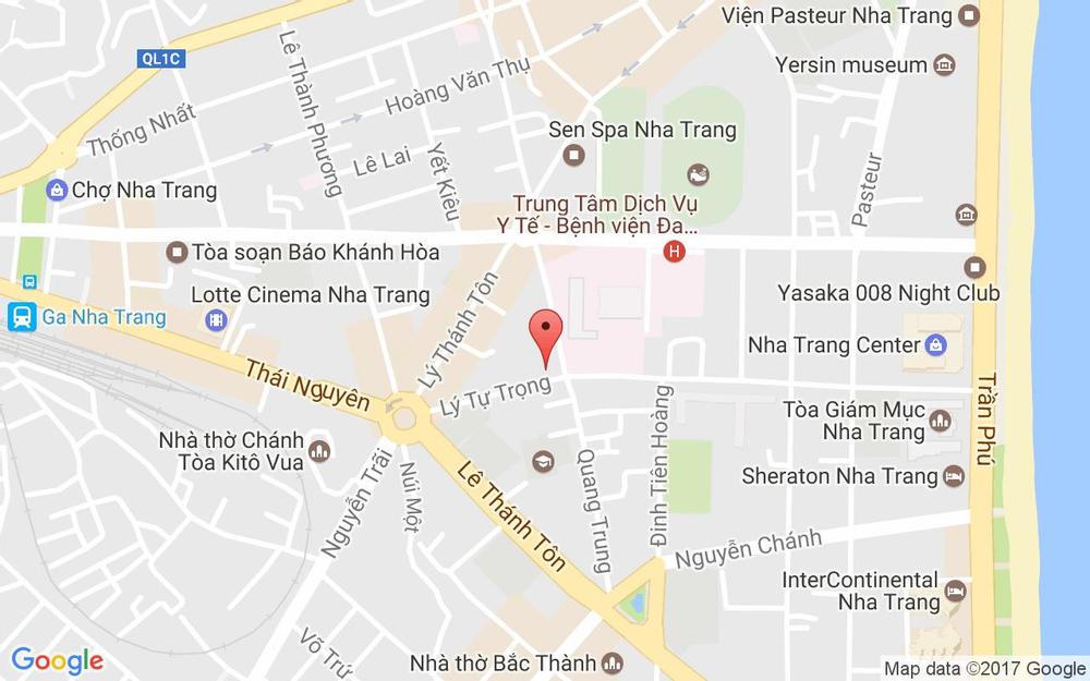 Vị trí bản đồ 20F Lý Tự Trọng Tp. Nha Trang Khánh Hoà
