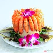 Tôm Sú Hấp Trái Dừa