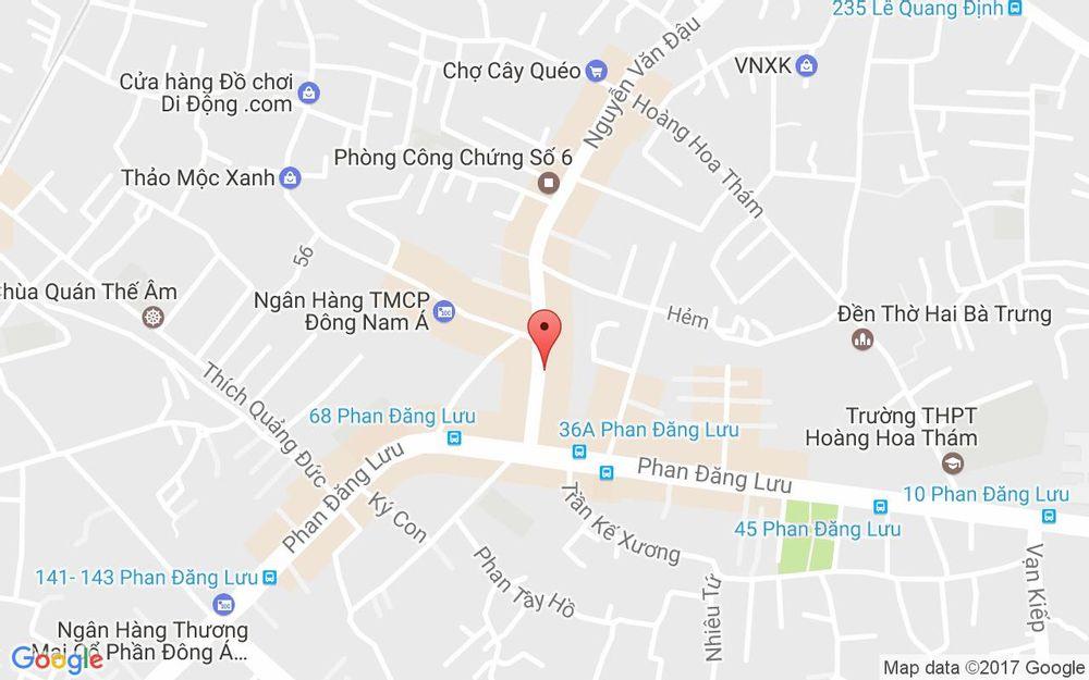 Vị trí bản đồ 18 Nguyễn Văn Đậu  Quận Bình Thạnh TP. HCM