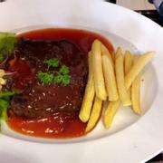 steak bò sốt BBQ