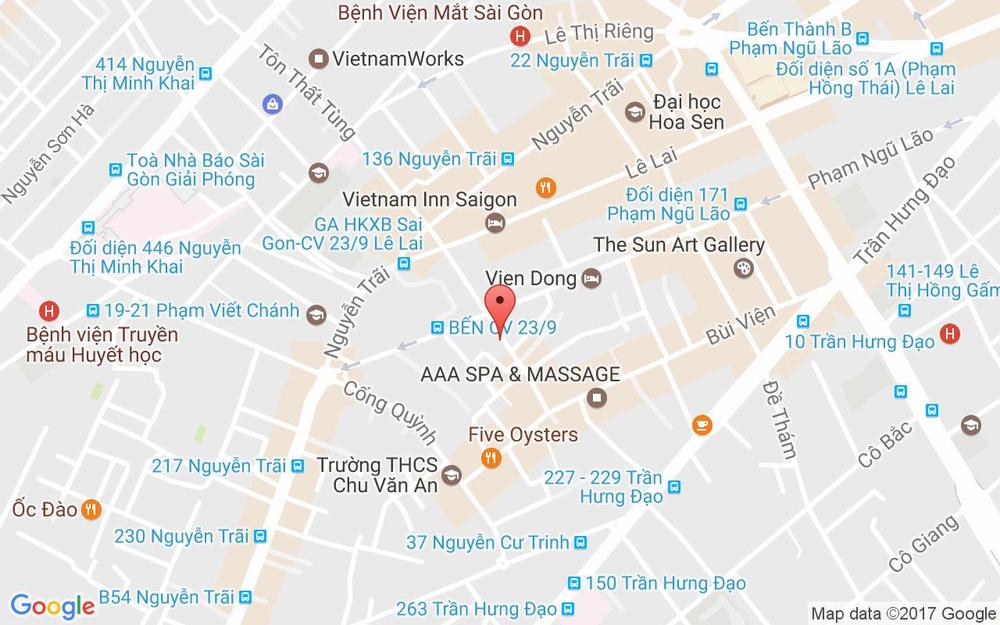 Vị trí bản đồ 59 Đỗ Quang Đẩu, P. Phạm Ngũ Lão Quận 1 TP. HCM