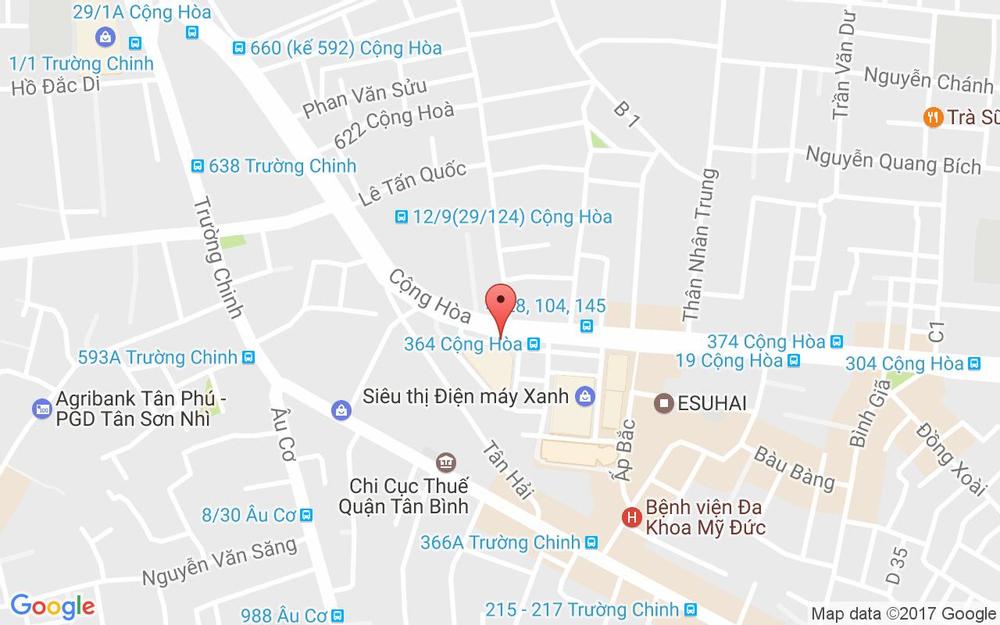 Vị trí bản đồ 532 - 534 Cộng Hòa, P. 13 Quận Tân Bình TP. HCM